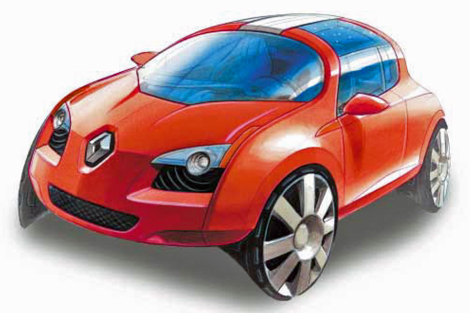 Artist's Impression of Renault Zoé City Concept Car
