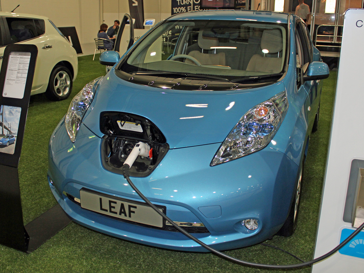 Nissan LEAF at EcoVelocity 2012 (Photo: T. Larkum)