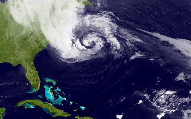 A Satellite Image of Hurricane Sandy (Image: NASA via Getty Images)