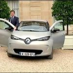 French Industry Minister Drives Renault Zoe