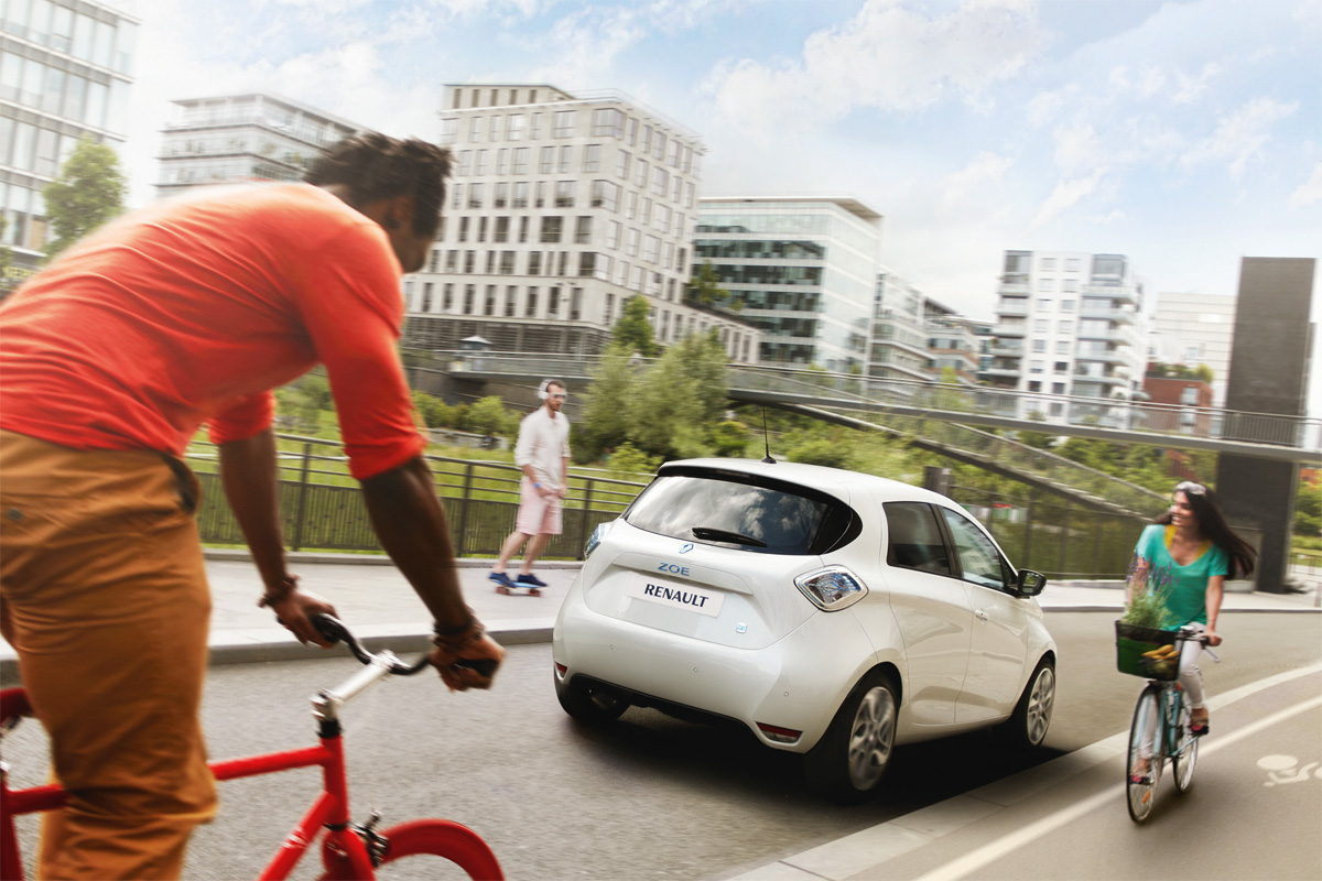 Zoe in an Urban Environment (Image: Renault)