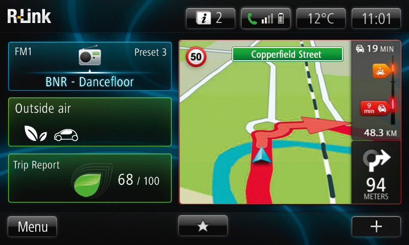 R-Link Navigation Screen (Image: Renault)