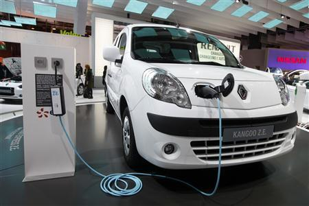 Renault Kangoo Charging From a Standard Socket (Image: Reuters)