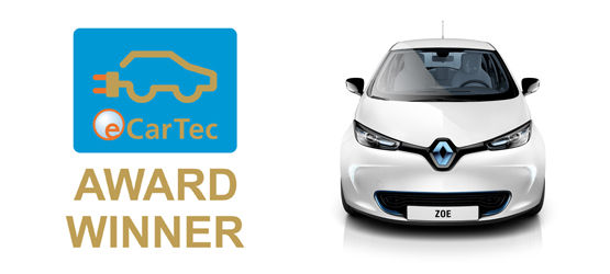 Zoe eCarTec Award Winner