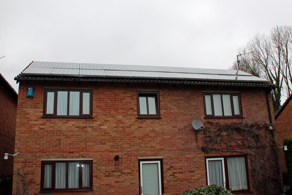 Solar Panels Completely Covering the Back Roof (Image: T. Larkum)