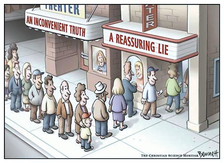 A Reassuring Lie (Image: The Christian Science Monitor)