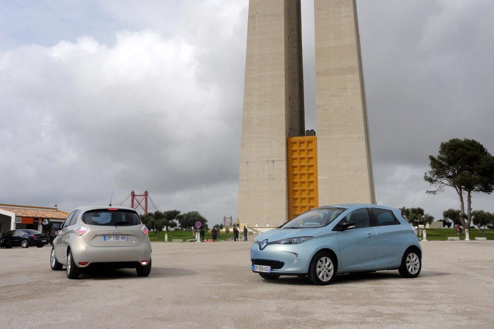 Zoe Test Drive in Lisbon (Image: Renault/Facebook)