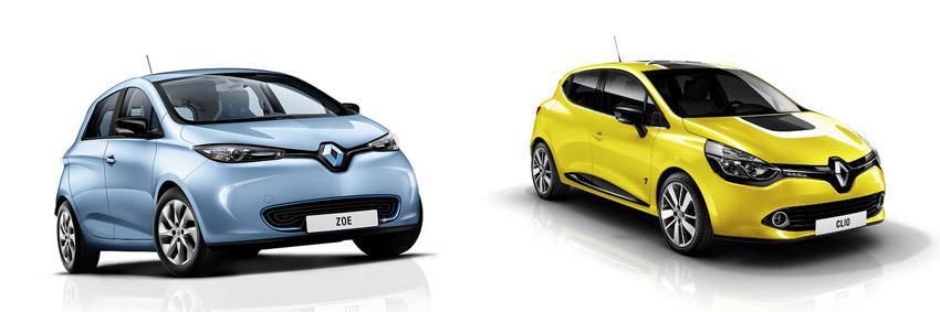 Zoe vs Clio (Images: Renault)