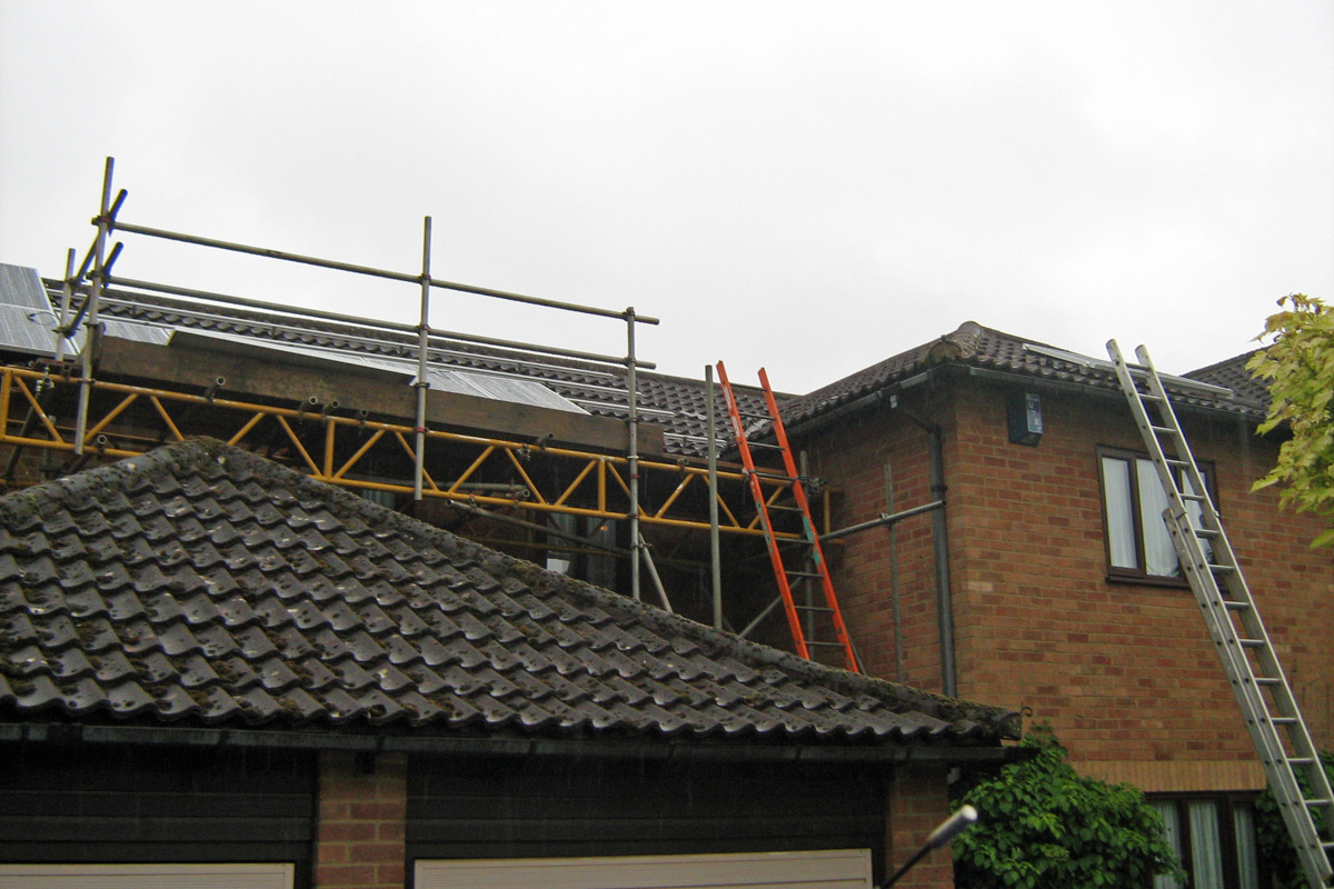 8 of the 16 Panels in Place – Including One on Dormer (Image: T. Larkum)