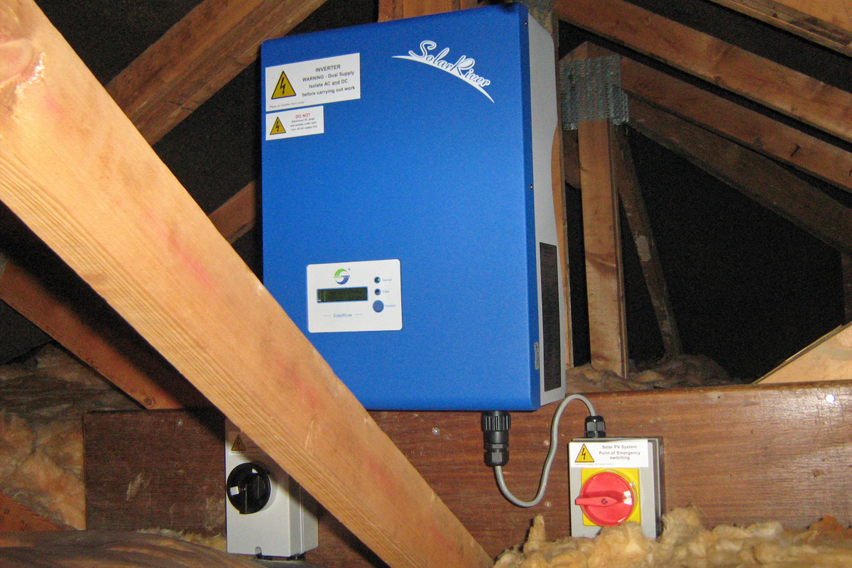 Inverter and Isolators in Loft (Image: T. Larkum)