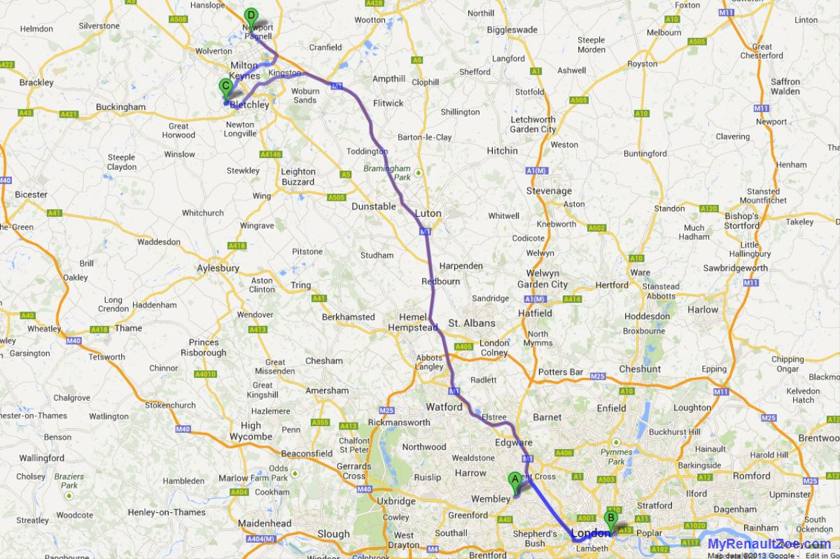 Our Bogus Journey – Ikea Wembley to Billingsgate to Bletchley to Newport Pagnell on a single charge (Image: T. Larkum)