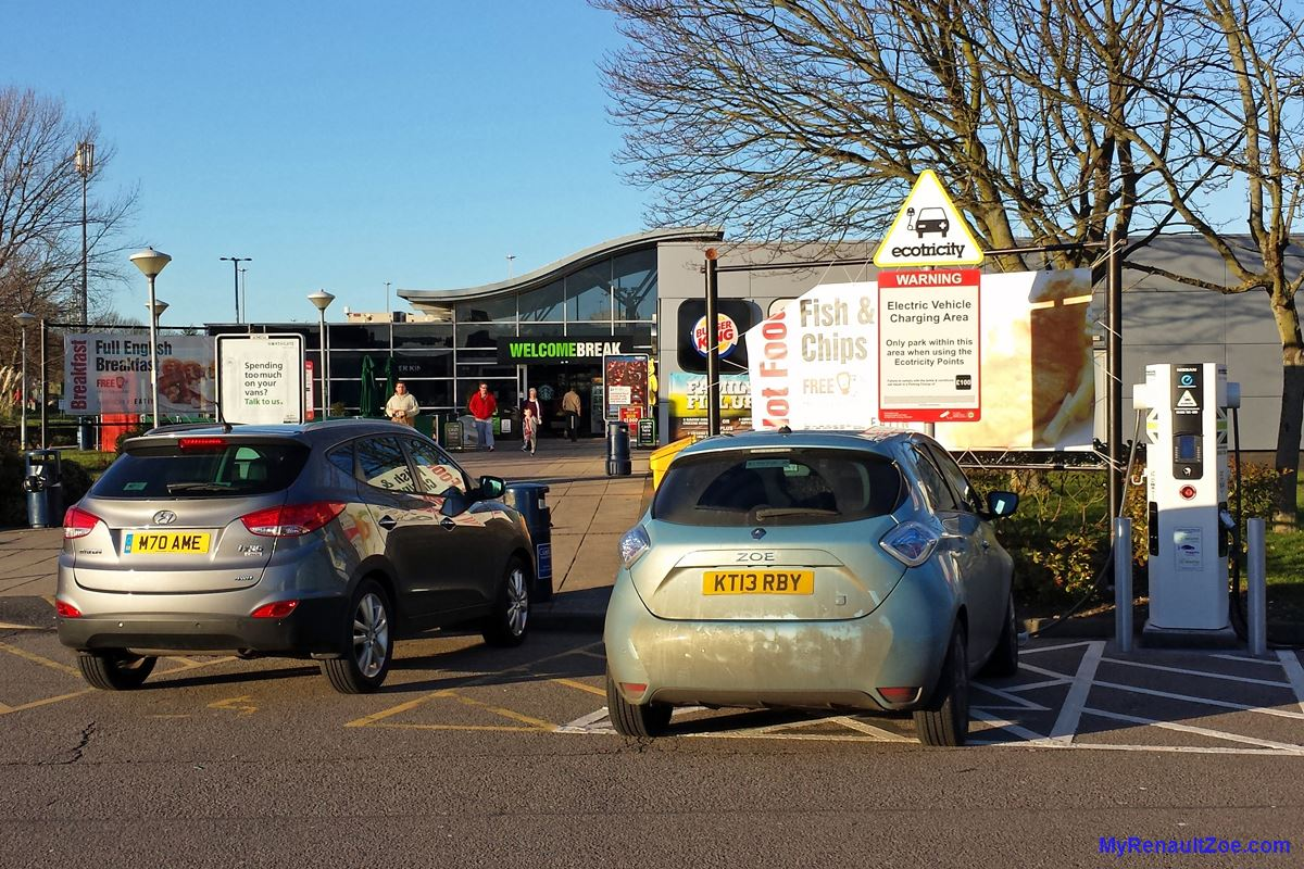 ZOE Charging at London Gateway services (Image: T. Larkum)