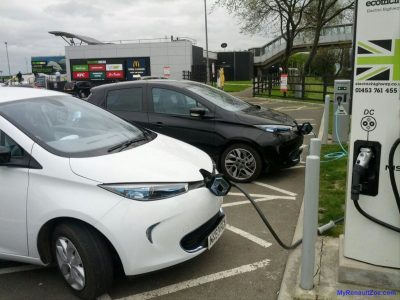 ZOE Charging at Woodall South (Image: Timbo)