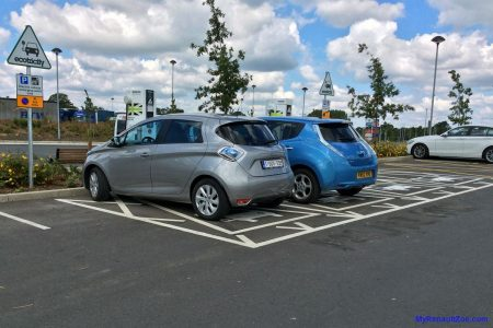 Cobham Services - first Nissan Leaf (Image: Surya)