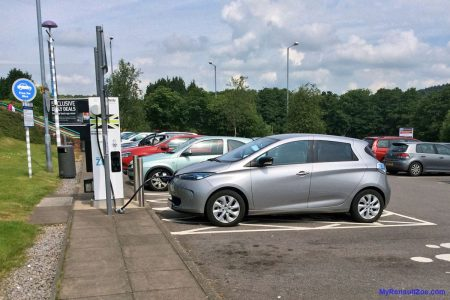 Charging at Pntyclun (Image: Surya)