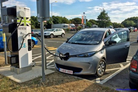 My ZOE charging at 43kW on an international trip (Image: Surya)