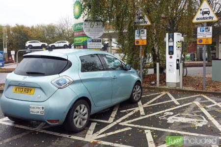 ZOE rapid charging at Chieveley Services (Image: T. Larkum)