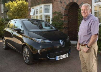 Eddie Pictured standing in front of the Renault ZOE