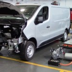 Second-life batteries used in electric van