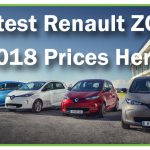 Latest Prices for Renault ZOE 2018